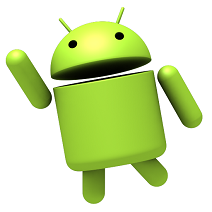zwaaiende android