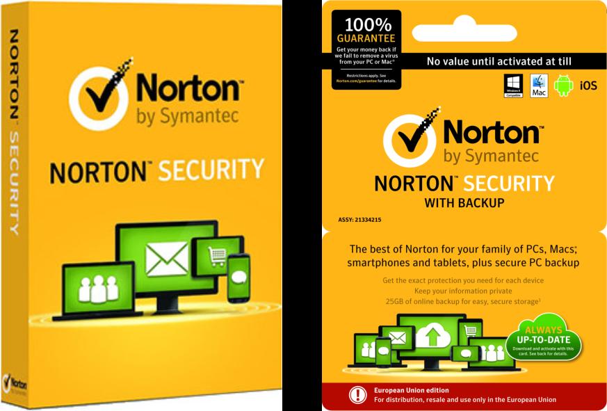 security pakketen van norton