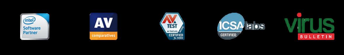 logo's van antivirus test bedrijven