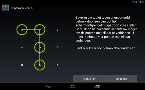 Patroon scherm lock android