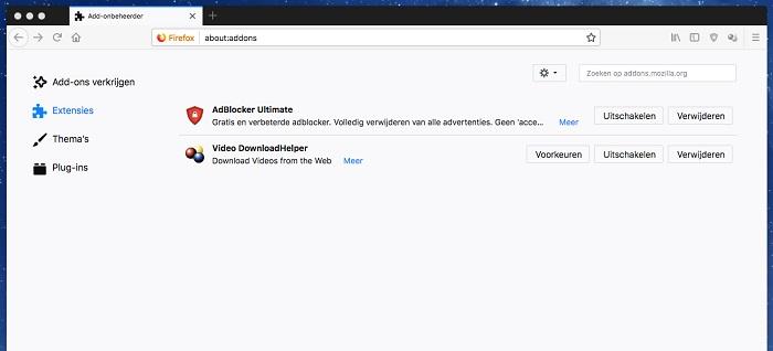 Mozilla Firefox uitbreidingen