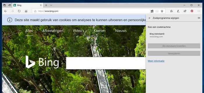 Bing zoekmachine