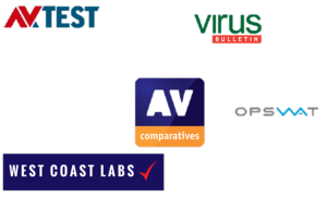 logo's van antivirus software test bedrijven