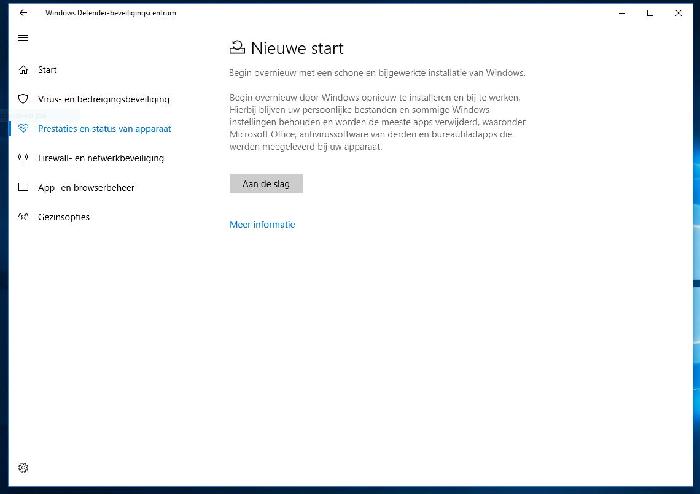 Nieuwe start in Microsoft W