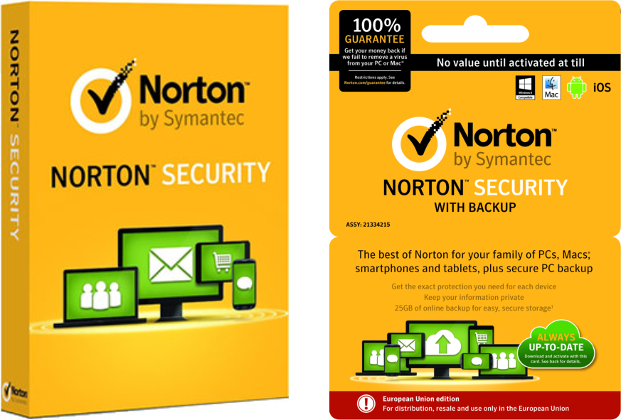 security pakketen van norton