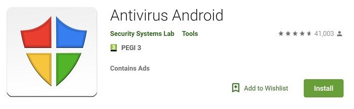 Android antivirus app